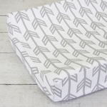 Coral & Mint Arrow Gray Arrow Baby Bedding Changing Pad