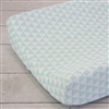 Coral & Mint Arrow Mint Triangles Baby Bedding Changing Pad