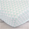 Coral & Mint Arrow Mint Triangles Baby Bedding Sheet