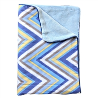 Gage Blue Zig Zag Blue Chevron Baby Bedding Blanket