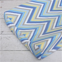 Gage Blue Zig Zag Blue Chevron Baby Bedding Changing Pad