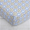 Gage Blue Zig Zag Blue Diamond Baby Bedding Sheet