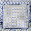 Gage Blue Zig Zag Ikat Blue Square Baby Bedding Pillow