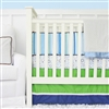 Gatlin's Green and Blue Baby Bedding 2Pc Set (Sheet & Skirt)