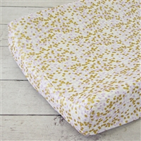 Lilac and Gold Sparkle Baby Bedding Changing Pad