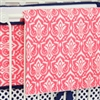 Preppy Coral and Navy Baby Bedding Blanket