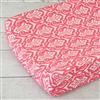 Preppy Coral and Navy Baby Bedding Curtains