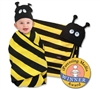 Beehive Swaddle Blanket & Cap Set