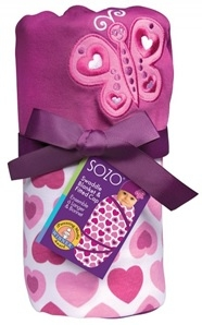 Hearts Swaddle Blanket & Cap Set
