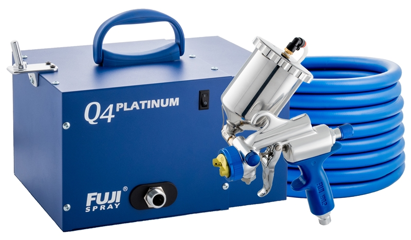 Fuji Q4 Gold Gravity HVLP Spray System Paint Sprayer W/ Tool Kit