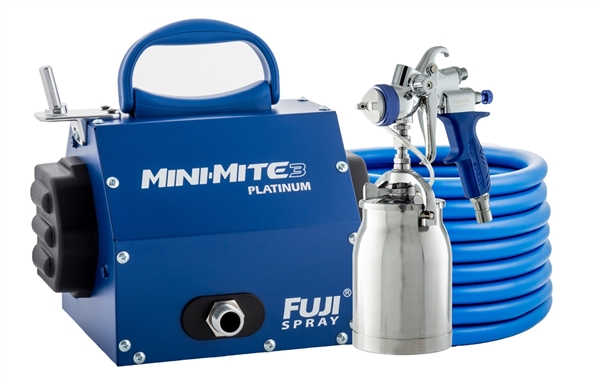 New Fuji Mini-Mite 3 Platinum T70 HVLP Spray System With Bonus Kit