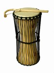 "Small Talking Drum -  Hardwood (6""x18"")"