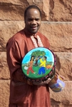 Yonrico Scott Hand Painted Djembe Drum by Everyones Drumming