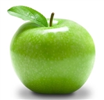 "Apple Granny Smith 3/8"" with Peel FREEZE DRIED BULK ORGANIC"