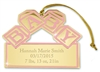 Pink Baby Blocks Ornament