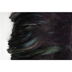 Black Iridescent Coque Feather Fringe used to hem and alternate pieces for a subtle look but unique look.