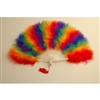 Marabou Fan - Rainbow Colors