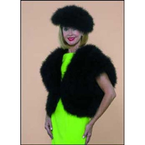 Marabou Jacket Short Sleeves