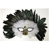 feather mask with peacock feather