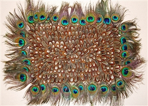 Feather Placemat - Peacock Almond