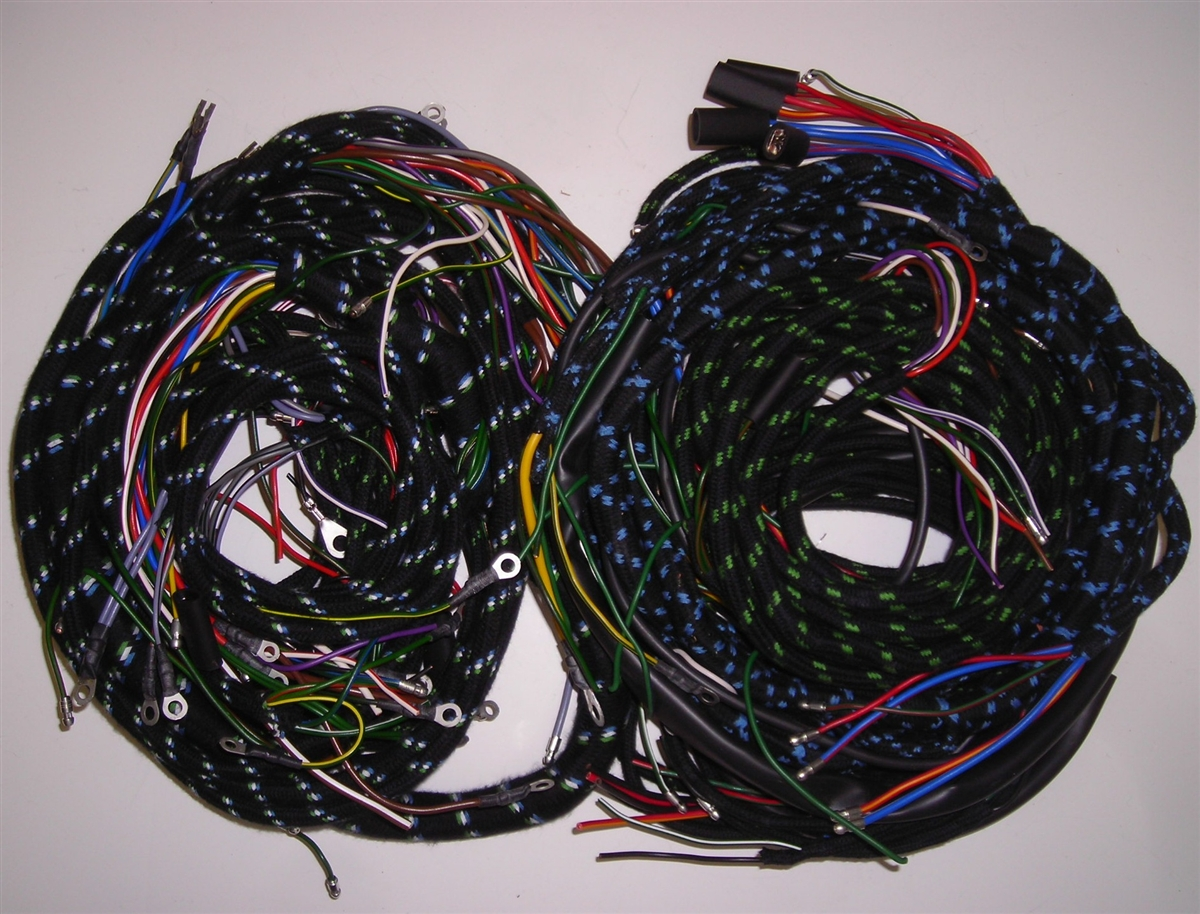 wiring harness set for early jaguar xk150 with manual trans (187pb) Jaguar Xk150 Wiring Harness wiring harness set for late jaguar xk150