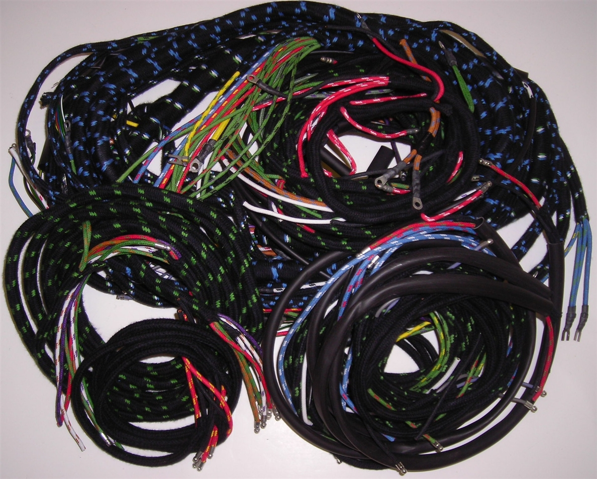 wiring harness set for early jaguar xk150 with manual trans (187xb) Jaguar Xk150 Wiring Harness wiring harness set for late jaguar xk150
