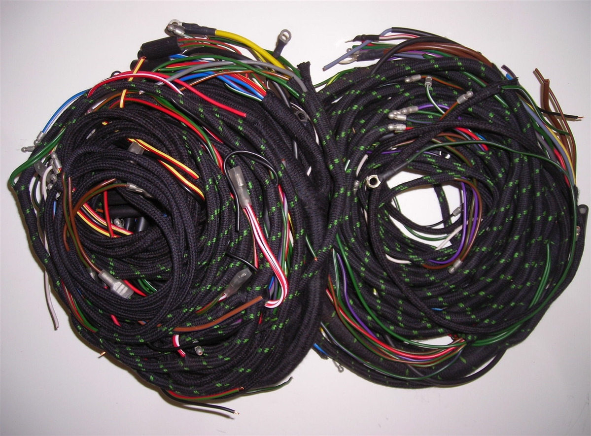 wiring harness set for late jaguar xk150 with auto trans (188pb) Jaguar Xk150 Wiring Harness wiring harness set for early jaguar