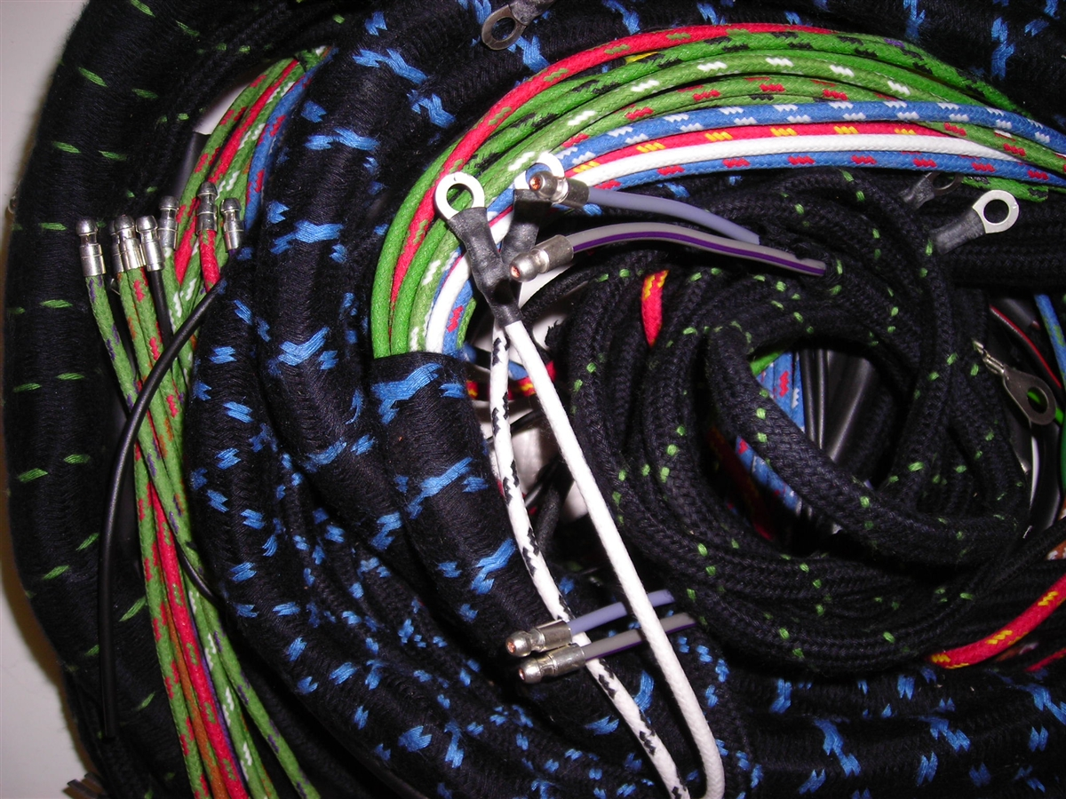 wiring harness set for late jaguar xk150 with manual trans (189xb) Jaguar Xk150 Wiring Harness xk150 wiring diagram wiring schematic