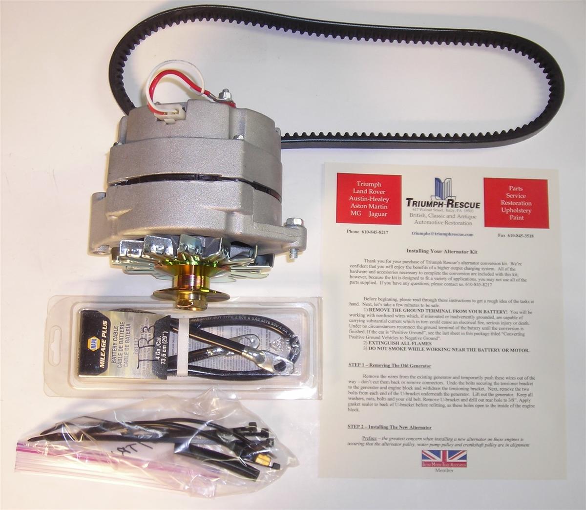 Late TR3 & TR4 Alternator Conversion Kit (LTR3TR4ALT) Napa Alternator Wiring Harness on