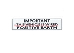 Positive Earth Sticker