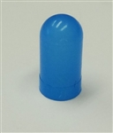 Blue-White Colored Bulb Cover For T3-1/4 Bulbs - Blue-White translucent precision molded bulb cover for T3-1/4 Bulbs. autometer covers, silicone boots, colored bulb covers, color filter caps