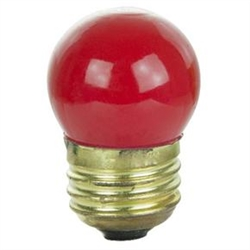 7-1/2S11/CRED/130V 7.5 WATT CERAMIC RED S11 E26 BASE