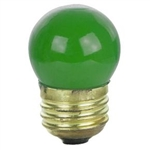 7-1/2S11/CGREEN/130V 7.5 Watt Ceramic Green S11 E26 Base, Halco #7024, Halco Lighting #7024, 7.5S11 Ceramic Green, S11CGreen, S11 Ceramic Green 7.5Watt