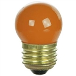 7-1/2S11/CORANGE/130V 7.5 WATT CERAMIC ORANGE S11 E26 BASE