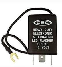 EF30AL 12V 15A 3 Pin Alternating LED Flasher, CEC EF30AL L.E.D. Electronic Flasher, Heavy Duty Alternating LED Electronic Flasher,CEC #EF30AL,EF30AL Led Flasher