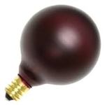 15G16-1/2E12/AMETHYST/130V AMETHYST DEEP COLOR GLOBE E12 BASE, AMETHYST G16.5 GLOBE, DEEP COLOR GLOBE BULB, DECORATIVE COLORED GLOBE BULBS, 15 WATT G16.5 AMETHYST MAGENTA GLOBE BULB CANDELABRA BASE