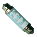 LE-0603-04B 24V Blue LED Festoon Lamp, JKL #LE-0603-04B, LE-0603-04B