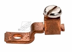 "Topaz - 822 Single Barrel Solderless Lug 1/4"" Bolt Size,Topaz #822, Topaz 822, Single Hole Offset Tang Copper Solderless Lug, 70 Amp rated, Topaz #822 Copper 70 Amp Solderless Lug"