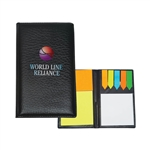 Custom Leather Padfolio w-Sticky Notes and Flags