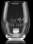Logo 17 oz. Stemless White Wine Glass