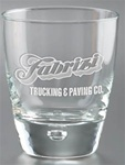 Logo 8.75 oz Deep Etched Luna Rocks Glass