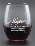 Logo 21 oz. Stemless White Wine Glass