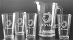 Logo Deep Etched Pitcher and Pint Set