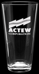 Custom Deep Etched Logo Mixing Glass 20oz