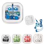Custom Ear Buds In Plastic Protective Travel Case