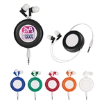 "Custom Retro Retractable 40"" Cord Ear Buds"