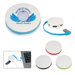 Custom 4-Port Round Shaped USB Hub