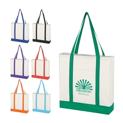 Promotional Non-Knitted Tote Bag w-Trim Colors