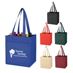 Promotional 6 Bottle Non-Woven Wine Tote