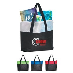 Promotional Zippered Non-Woven Tote Bag